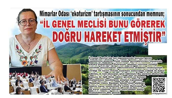 """""""İL GENEL MECLİSİ BUNU GÖREREK DOĞRU HAREKET ETMİŞTİR"""""""