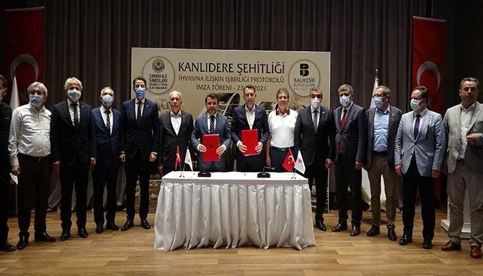 Tarihi Gelibolu Yarımadası'nda Kanlıdere Şehitliği için imzalar atıldı (VİDEO)