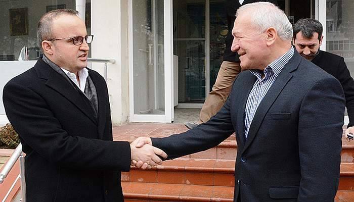 Turan, Başkan Yılmaz'a konuk oldu