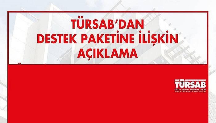 TÜRSAB'dan 'Destek Paketine İlişkin Açıklama'