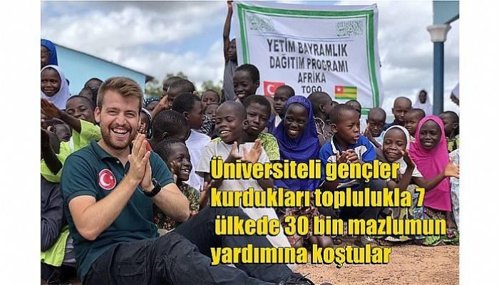 Üniversiteli gençler kurdukları toplulukla 7 ülkede 30 bin mazlumun yardımına koştular (VİDEO)