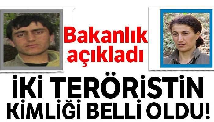 İçişleri Bakanlığı: 4 teröristten 2'sinin 'Terörden Arananlar Listesi'nde' olduğu tespit edildi