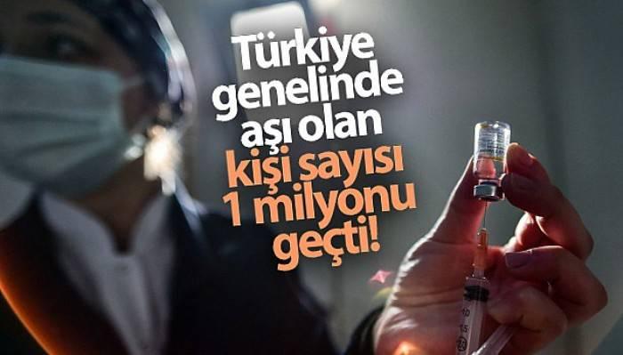 Türkiye genelinde aşı olan kişi sayısı 1 milyonu geçti