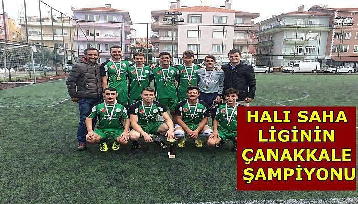 Halı saha liginin Çanakkale şampiyonu