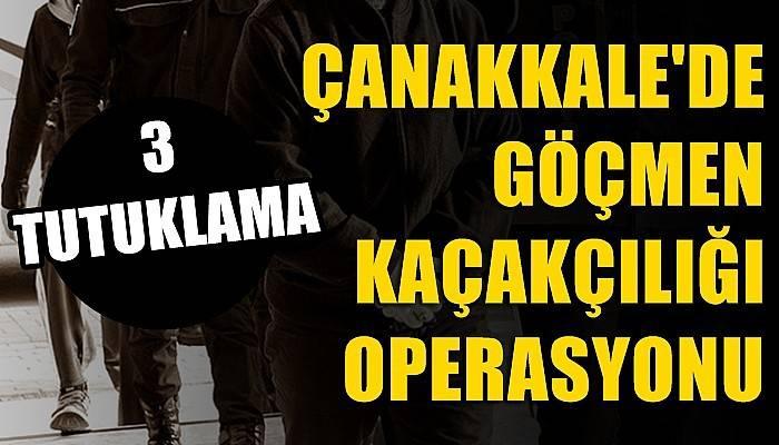 Çanakkale'de göçmen kaçakçılığı operasyonunda 3 tutuklama