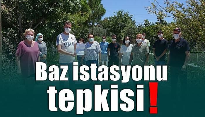 Ayvacık halkı yeni kurulacak olan baz istasyonuna karşı çıktı!