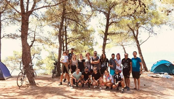 Çanakkale Bisiklet Platformu kamplı tur düzenledi