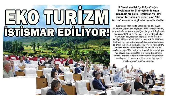 EKO TURİZM İSTİSMAR EDİLİYOR!