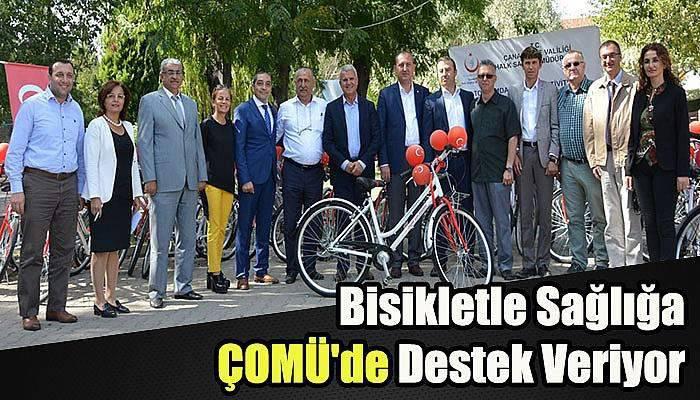Bisikletle Sağlığa ÇOMÜ'de Destek Veriyor