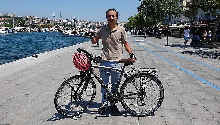 1 yılda 81 ili bisikleti ile gezdi (VİDEO)