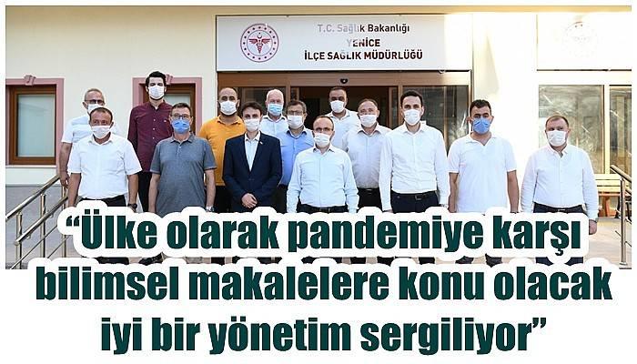 AK Parti Grup Başkanvekili ve Çanakkale Milletvekili Turan, Yenice İlçe Sağlık Müdürlüğü'nü ziyaret etti