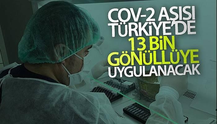 Koronavirüse karşı geliştirilen Cov-2 aşısı Türkiye'de 13 bin gönüllüye uygulanacak