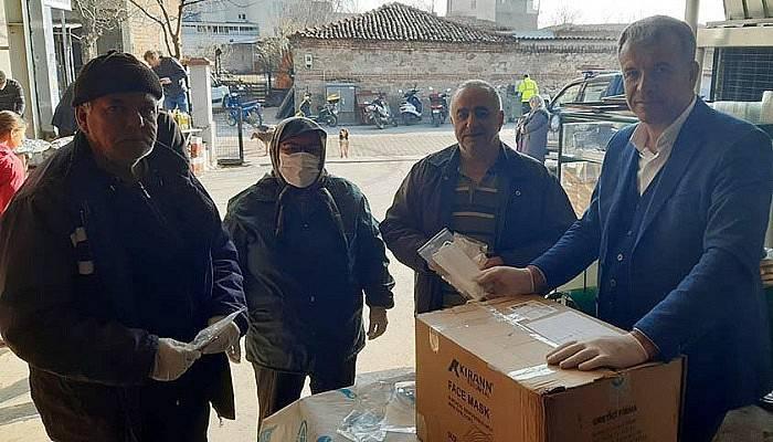 Karabiga Belediyesi Maske Dağıttı