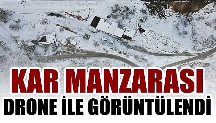 Çanakkale'de kar manzarası drone ile görüntülendi (VİDEO)