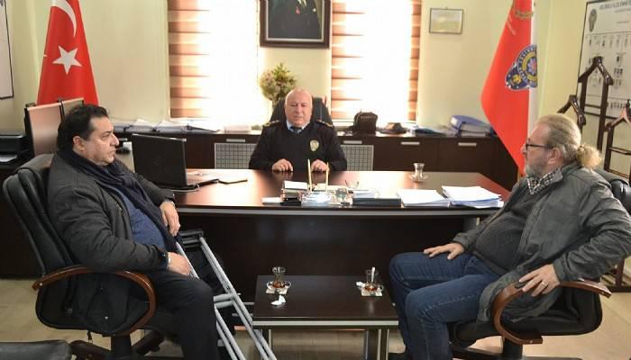 Gazetecilerden yeni atanan Emniyet Müdürü'ne ziyaret