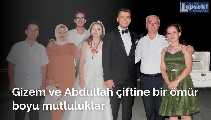 Gizem ve Abdullah çiftine bir ömür boyu mutluluklar