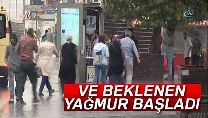 İstanbul'da beklenen yağmur başladı!