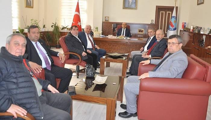 İL GENEL MECLİS ÜYELERİNDEN KAYMAKAM CAN'A ZİYARET