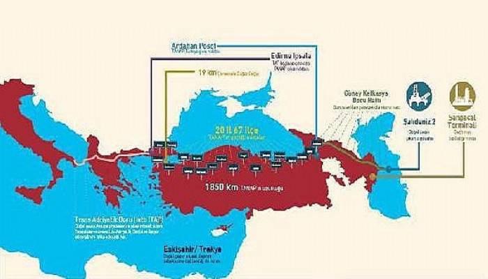 Azeri gazının Avrupa yolculuğu Marmara Denizi'nde başladı (VİDEO)