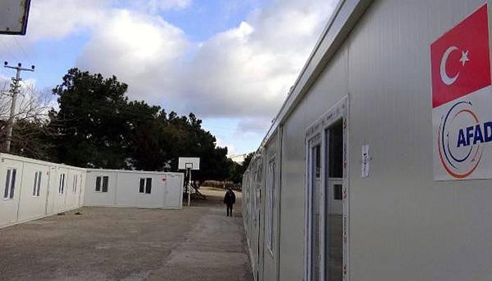Deprem bölgesine konteyner okul (VİDEO)