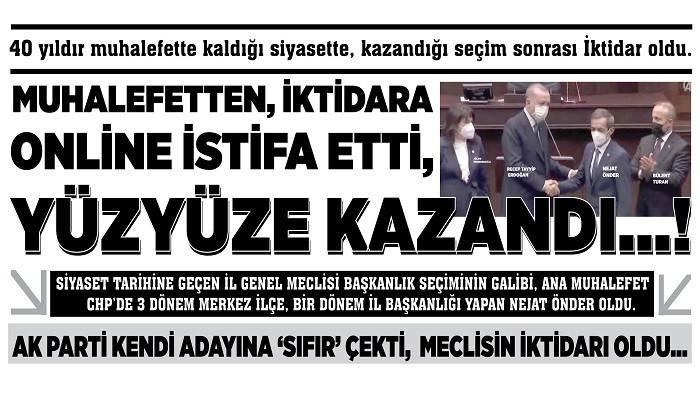 MUHALEFETTEN, İKTİDARA ONLİNE İSTİFA ETTİ, YÜZYÜZE KAZANDI...!