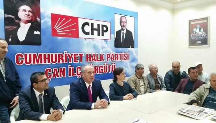 Muharrem İNCE, CHP Çan ilçe örgütü'nü ziyaret etti