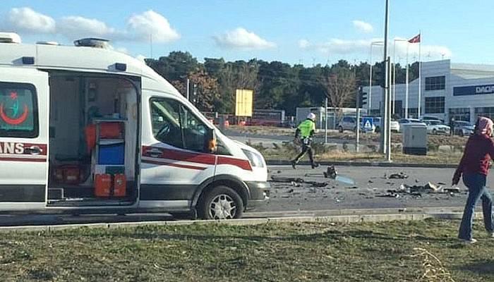 Trafik kazası: 3 yararlı