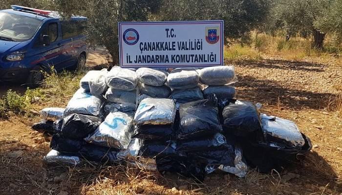 Çanakkale'de 2 milyon dolarlık 300 kilo esrar ele geçirildi