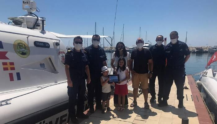Sahil Güvenlik 4 yaşındaki minik Ayaz'ın hayalini gerçekleştirdi