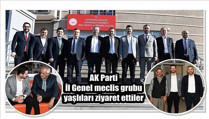 AK Parti İl Genel Meclis Grubu yaşlıları ziyaret ettiler