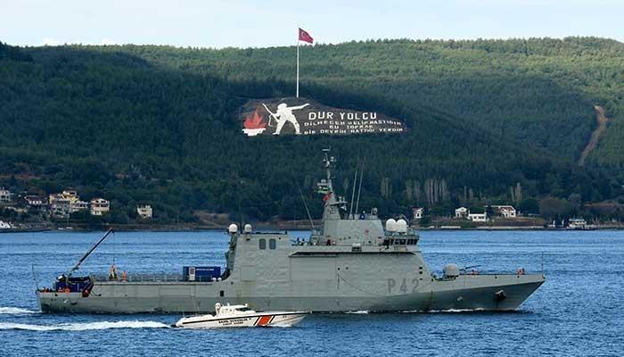 NATO savaş gemileri, 'Nusret-2021 Davet Tatbikatı' için Çanakkale'de (VİDEO)