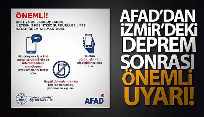 AFAD, uyardı: SMS ve internet tabanlı mesajlaşma uygulamaları tercih edin