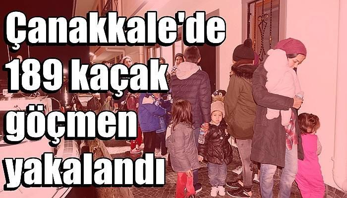 Çanakkale'de 189 kaçak göçmen yakalandı (VİDEO)