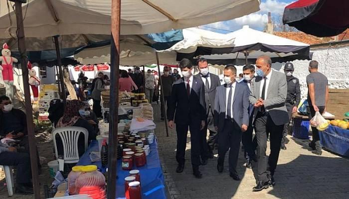 Vali Aktaş'ın ilçe ziyaretleri kapsamında Eceabat'ta temaslarda bulundu
