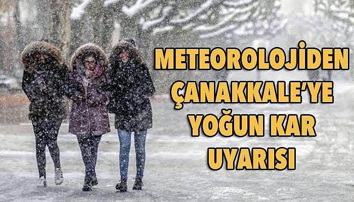 Çanakkale'nin o ilçelerine yoğun kar uyarısı!