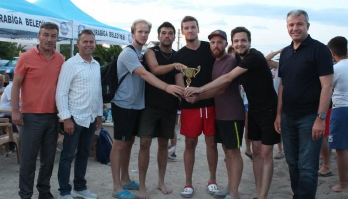 Plaj voleybolu ve plaj futbolu turnuvaları tamamlandı