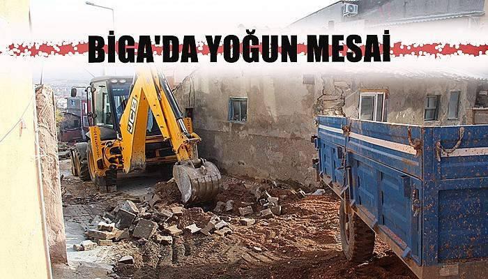 Biga'da yoğun mesai