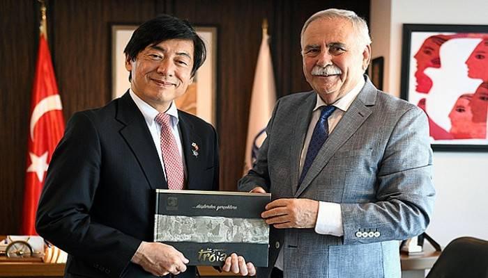 Başkan Gökhan Japonya Büyükelçisini ağırladı