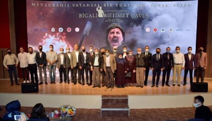 'ÇANAKKALE FEDAKARI BİGALI MEHMET ÇAVUŞ BELGESELİ'NİN GALASI BİGA'DA YAPILDI