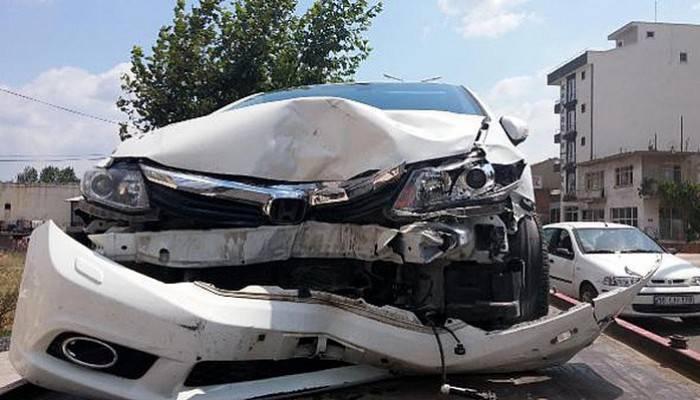 Kaza anı kamerada (VİDEO)