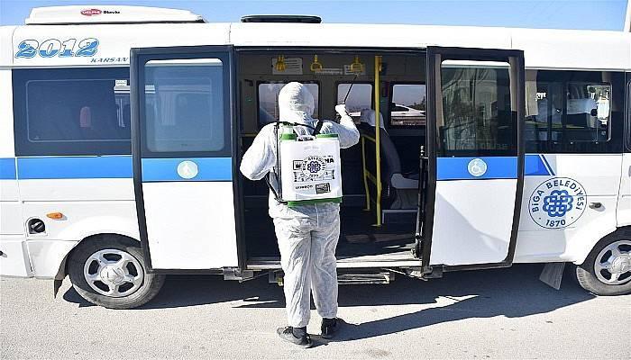 Biga Belediyesi'nden koronavirüs önlemleri
