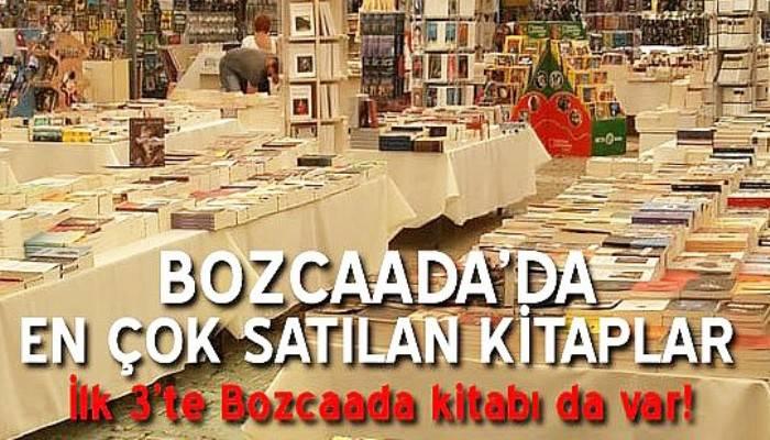 'Bozcaada Kitap Festivali'nde en çok satılan kitapları açıklandı