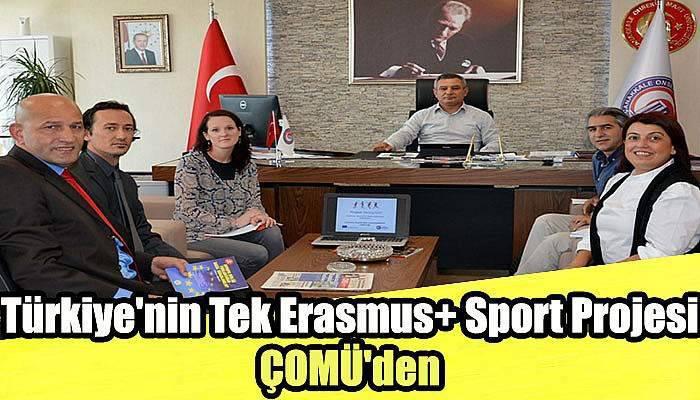 Türkiye'nin Tek Erasmus+ Sport Projesi ÇOMÜ'den