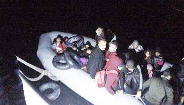 Çanakkale'de Lastik Bot İçinde 110 Kaçak Göçmen Yakalandı