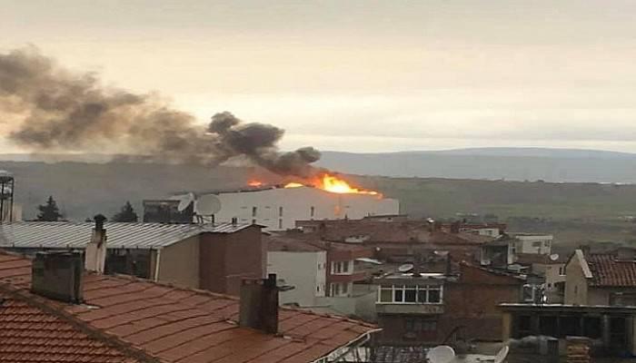 Umurbey'de korkutan yangın