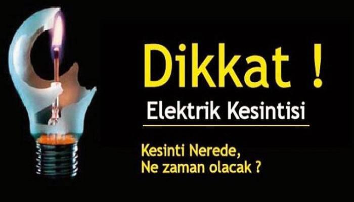 Çanakkale'de Pazar günü elektrik kesintisi!