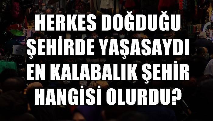 Türkiye'de herkes memleketinde yaşasa en kalabalık il Şanlıurfa olurdu (VİDEO)