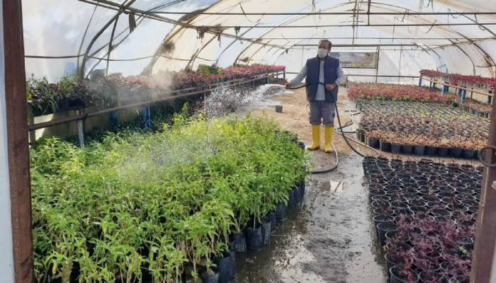 Bitkisel üretim çalışmaları hızla sürüyor!