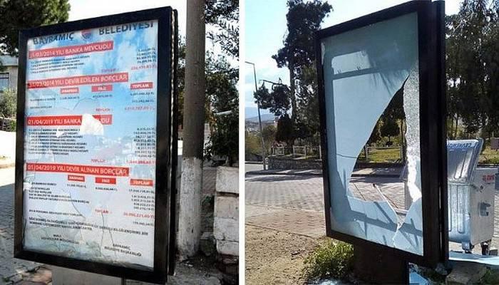 Bilbordlara saldıran belediye işçisi çıktı