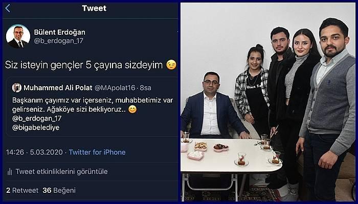 Başkan Erdoğan, üniversitelilerin çay davetini geri çevirmedi